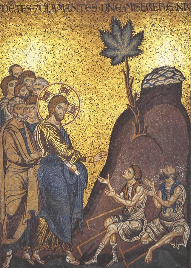 jesus healing the blind with cannabis