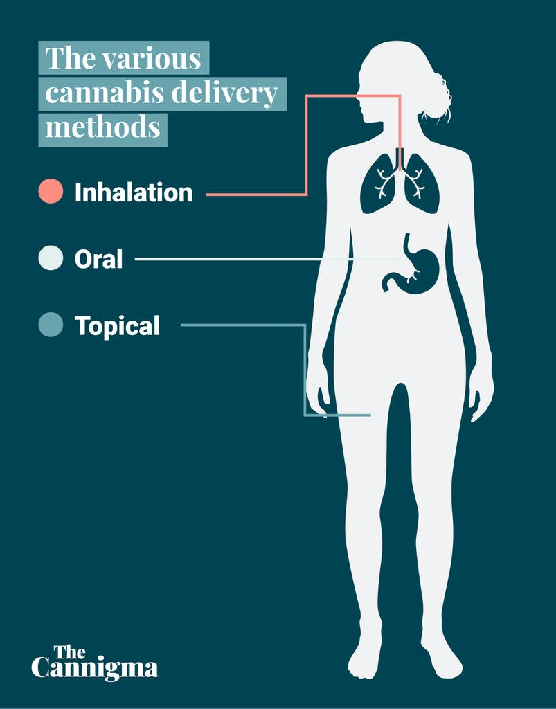 Cannabis can be consumed in three different ways: inhalation, edibles and topicals