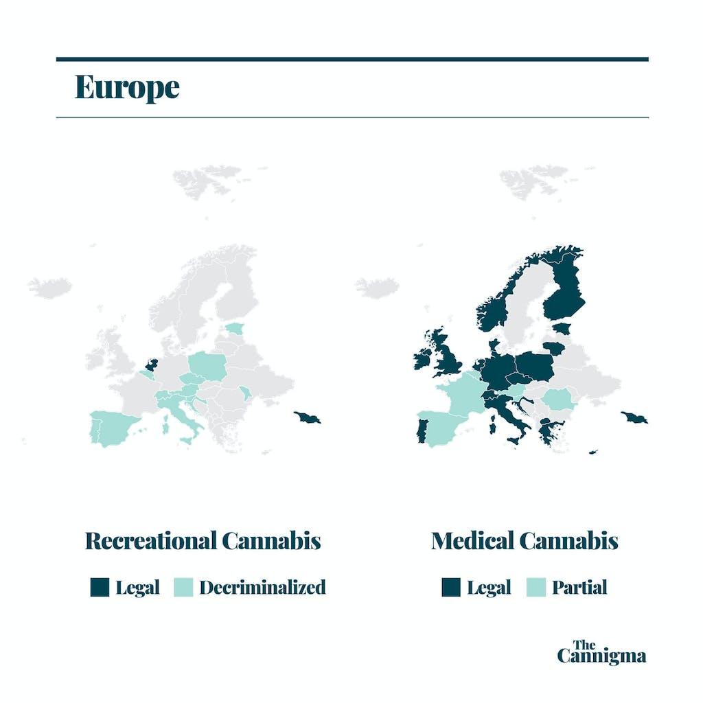 The European cannabis Map