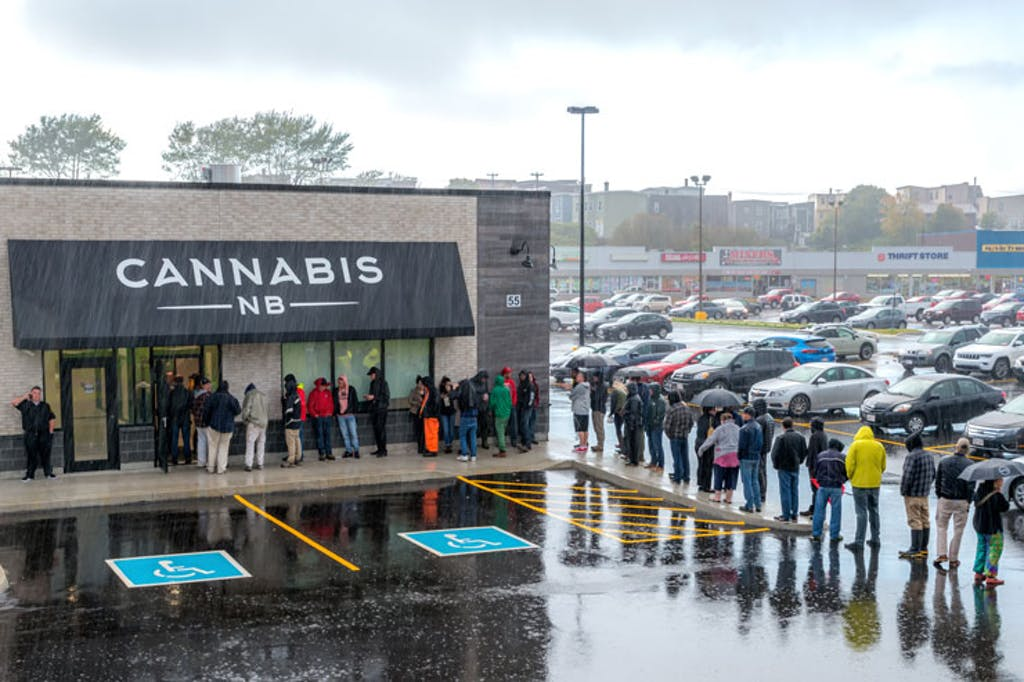 Cannabis dispensiary in Canada