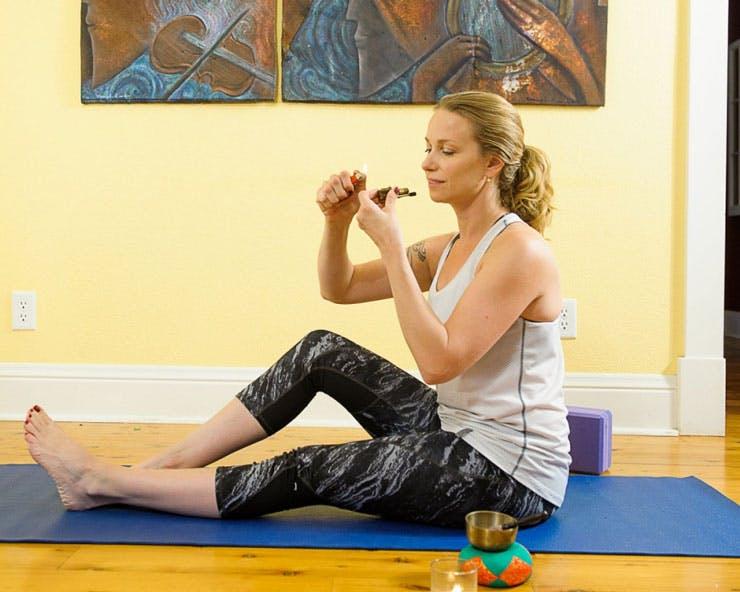 Smoking cannabis and doing yoga
