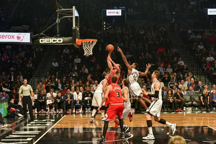 NBA game between the Brooklyn Nets and Chicago Bulls