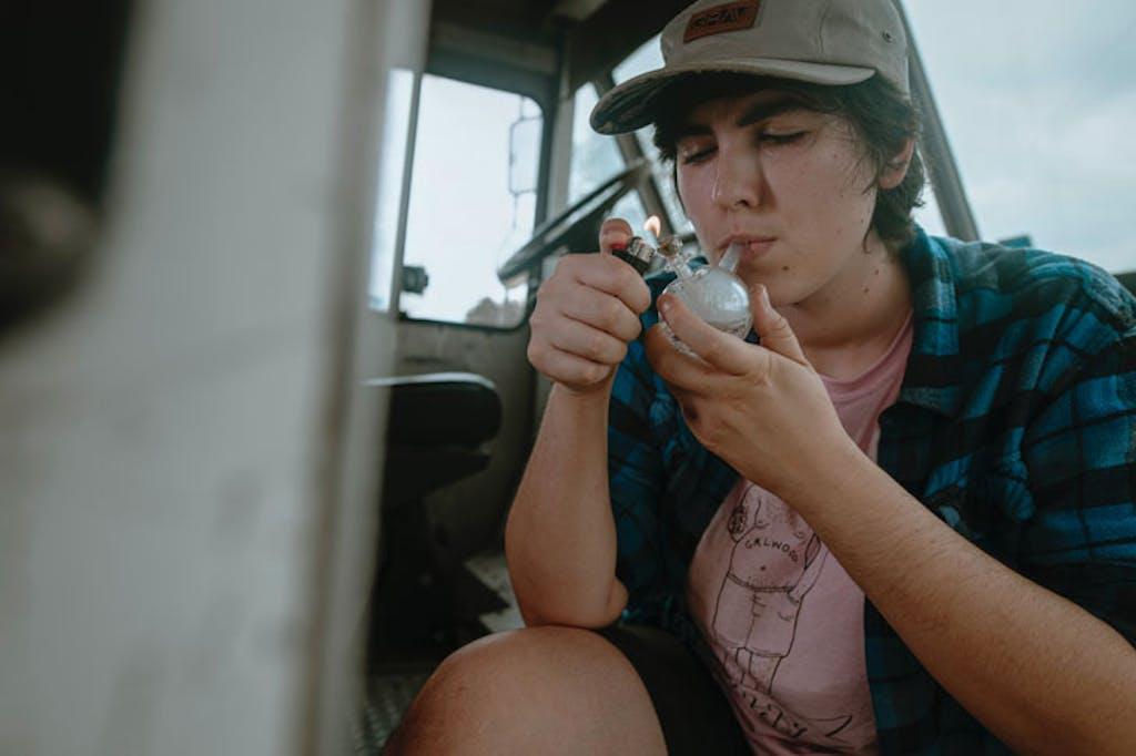 Adolescent cannabis smoking bubbler