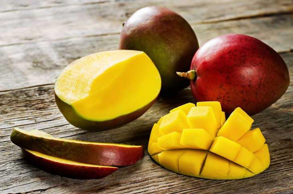 Mango on a table.