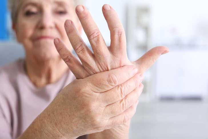 Suffering from arthritis in the hand