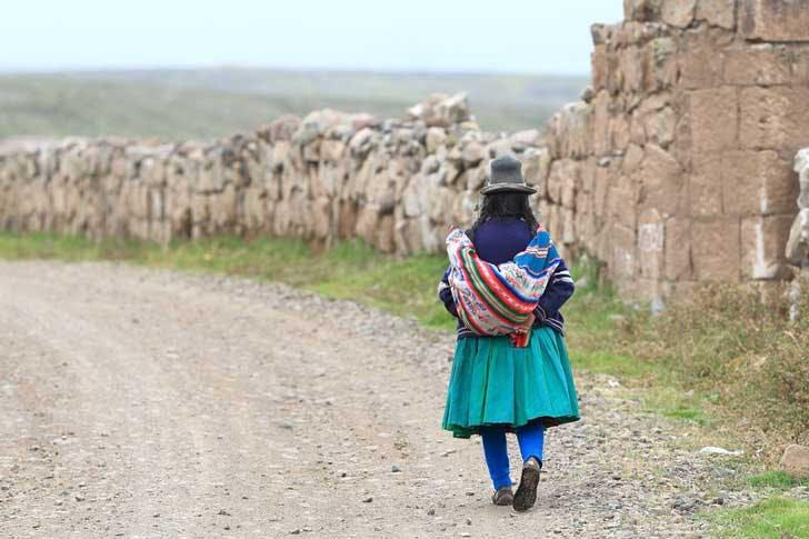 A Peruvian woman near Cusco, Peru.