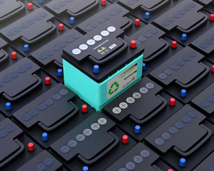 Illustrative photo of car batteries