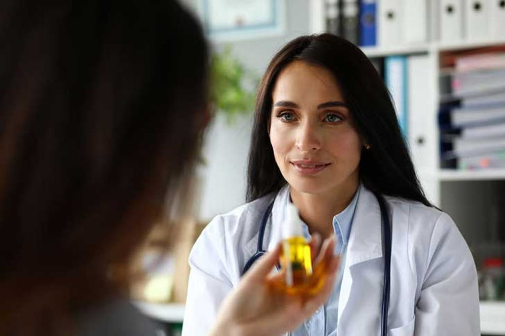 patient consults with their doctor about medical cannabis