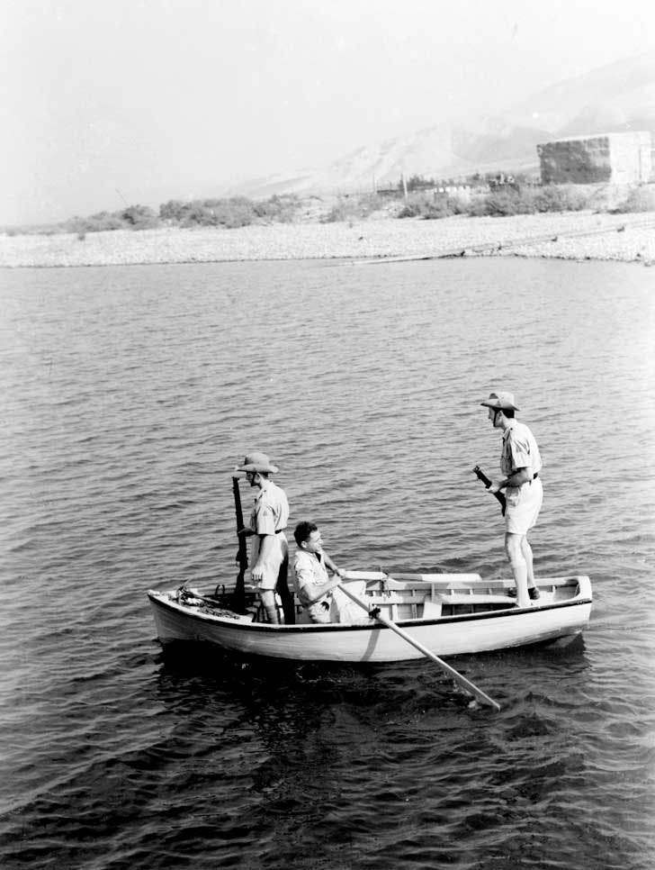 Jewish settlement police patrolling the Sea of Galilee