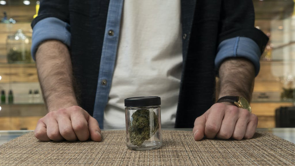 Buying cannabis in a dispensary