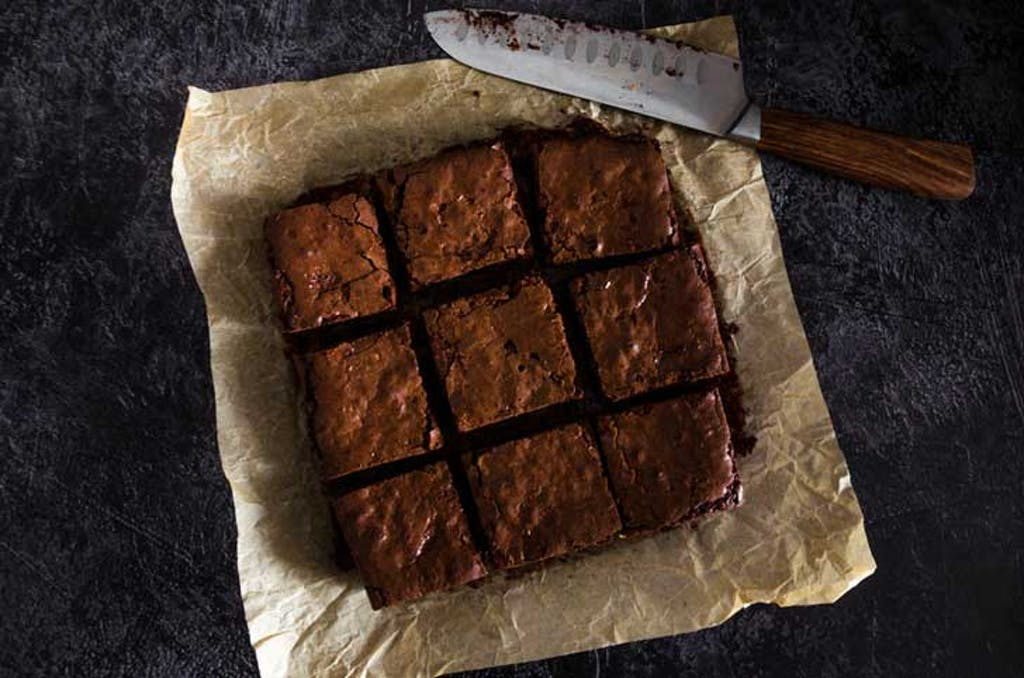 Pot brownie squares