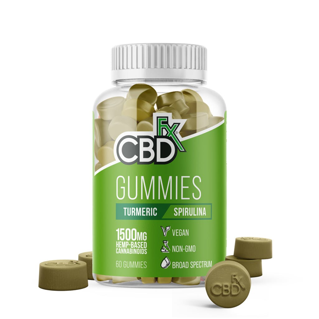 CBDfx CBD Gummies with Turmeric and Spirulina