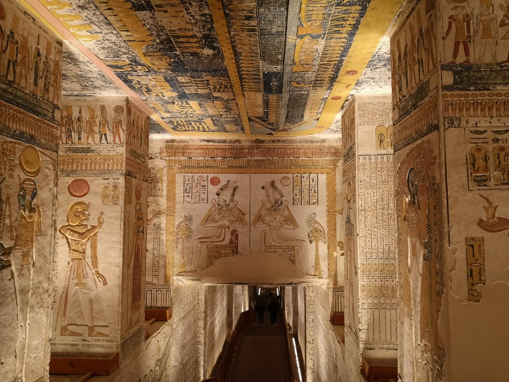 Luxor, Egypt: KV9, Kings' Valley No. 9, Tomb of Memnon, tomb of the pharaohs from the 20th dynasty: Ramses V and Ramses VI