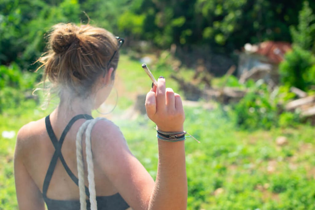 smoking cannabis in Jamaica