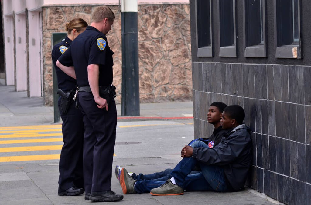 Police in San Francisco detain and question two Black boys