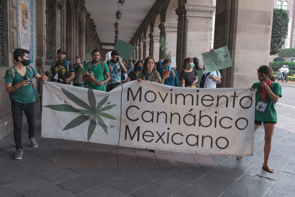 A march for the legalization of cannabis, Mexico City