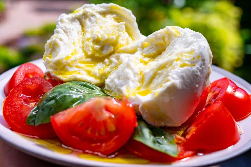 Basil in a caprese salad