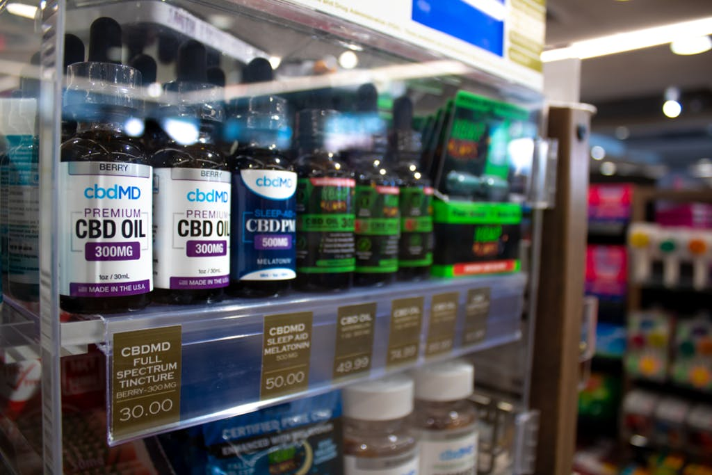 CBD and hemp products are sold at a store in Maui, HI