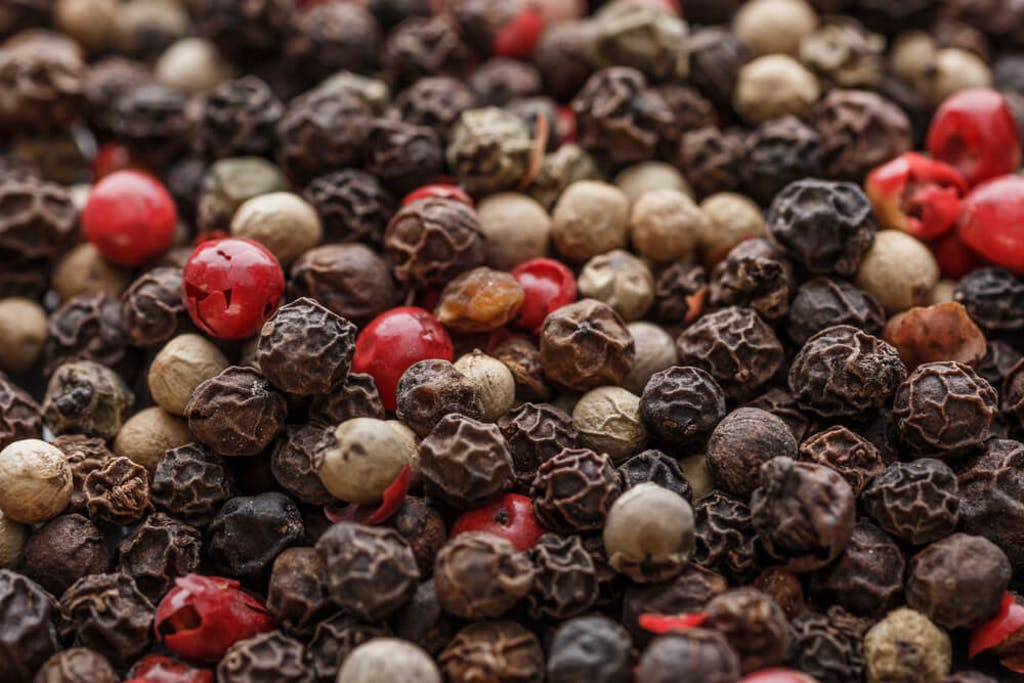 Multi-colored peppercorns