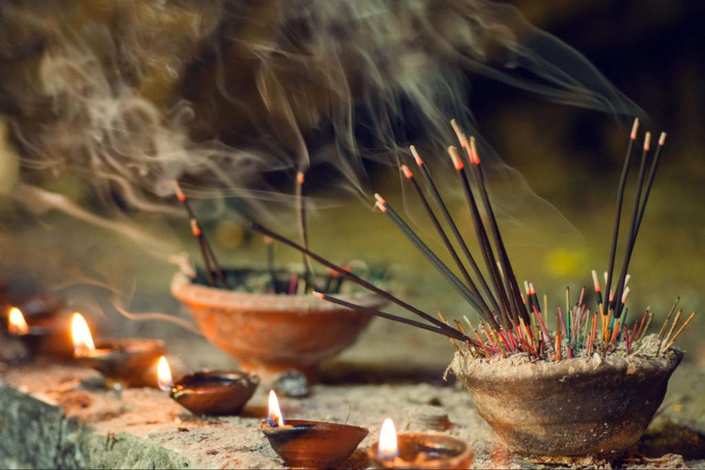 Incense for praying Buddha or Hindu gods to show respect
